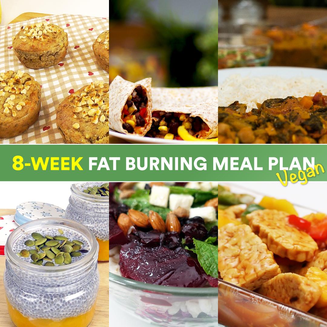 Vegan Diets Plan: 8-week Fat Burning Vegan Meal Plan